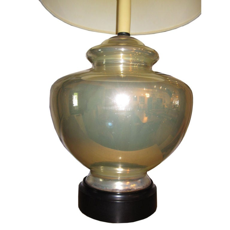 Large Mercury Glass Lamp At 1stdibs