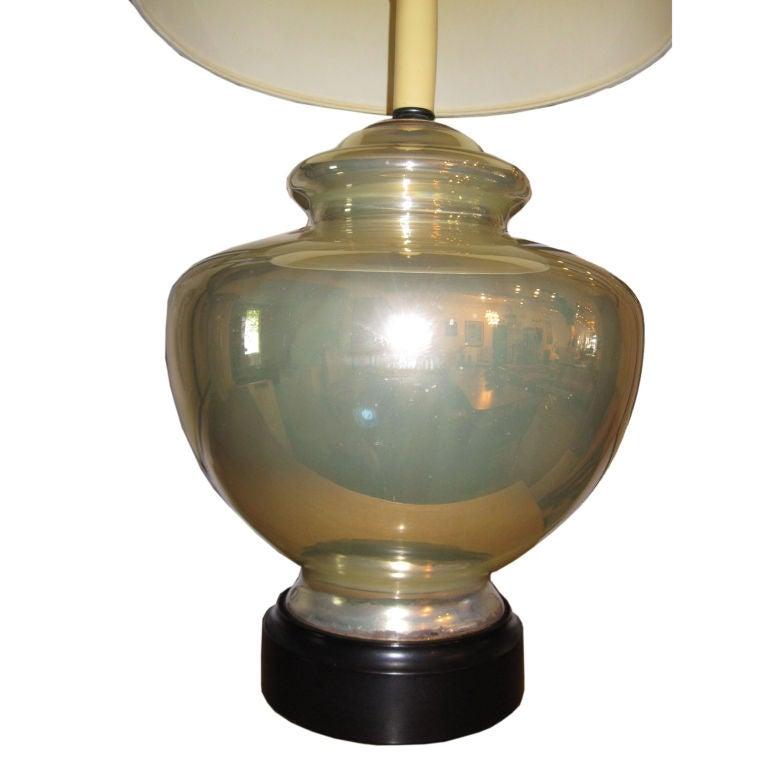 Large Mercury Glass Lamp At 1stdibs