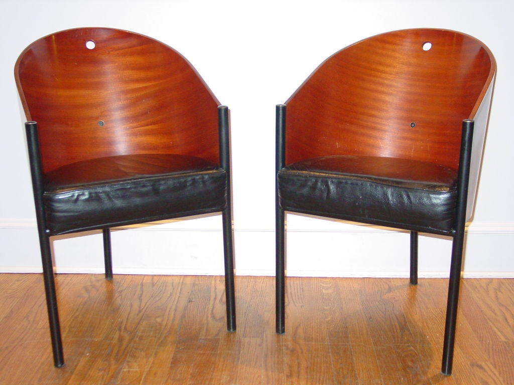 Set of four dining chairs club chairs by philippe starck at 1stdibs - Chaises philippe starck ...