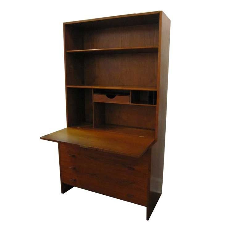 Danish Desk Bookcase With Dresser At 1stdibs