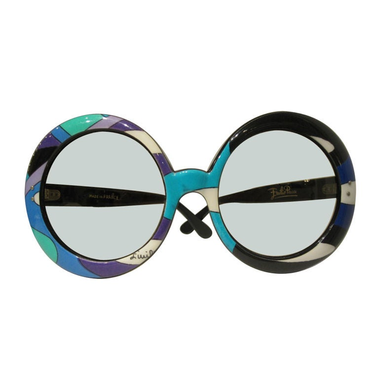 Pair of Vintage Oversized Sunglasses Designed by Emilio Pucci