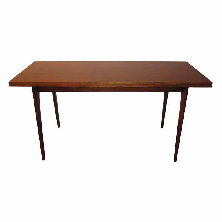 Flip Top Console Dining Table In The Manner Of Jens Risom At 1stdibs