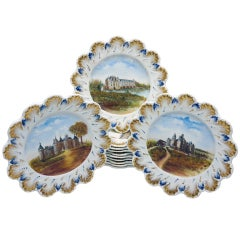 Twelve 19th Century French Hand Painted Cabinet Plates