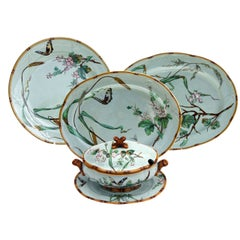 Minton 19th Century Aesthetic Movement Celadon Serving Pieces