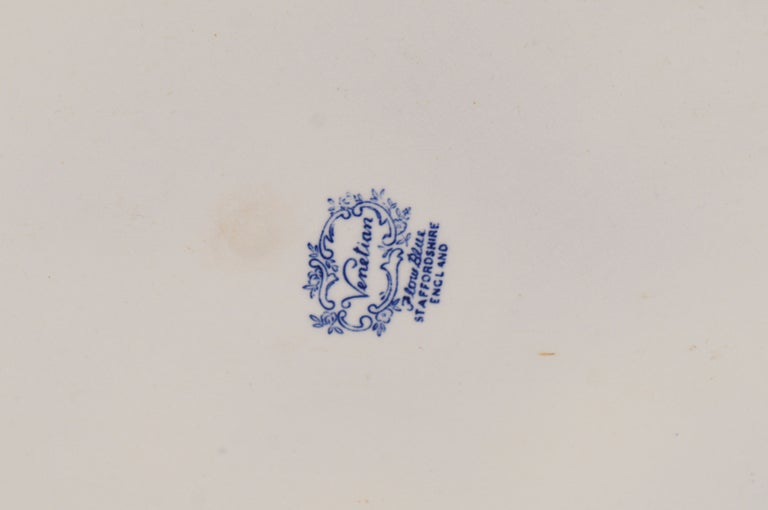 19th c English Blue & White Transfer Foot Bath For Sale 5