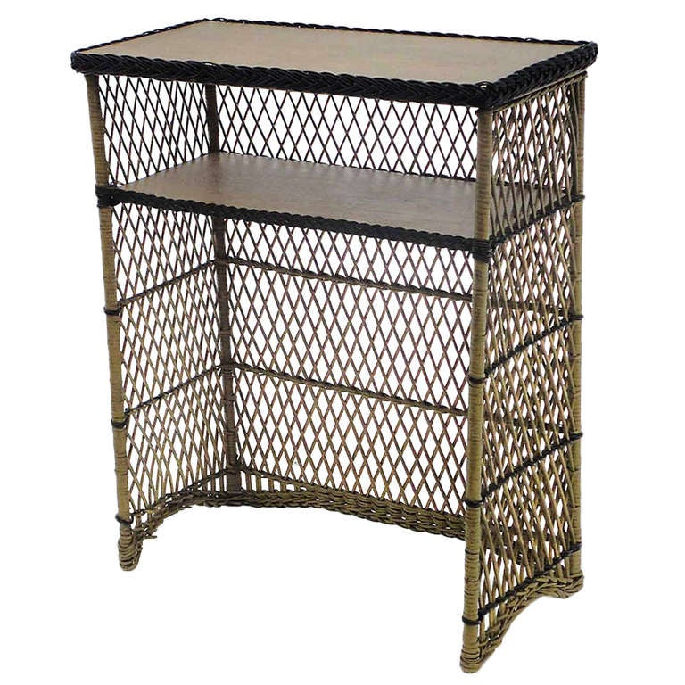 Antique Wicker Dry Bar At 1stdibs