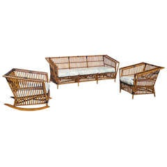 Three-Piece High Style Stick Wicker Set