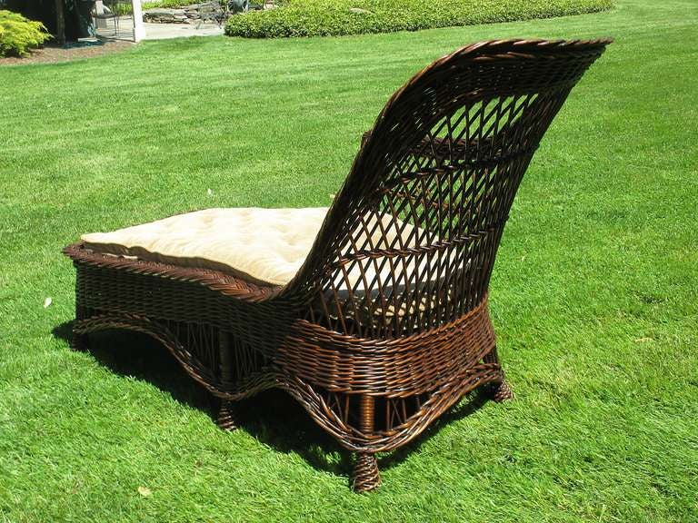Bar harbor wicker chaise longue image 4 for Chaise longue rattan