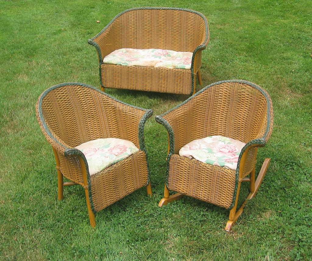 Three-Piece Child's Wicker Set image 2