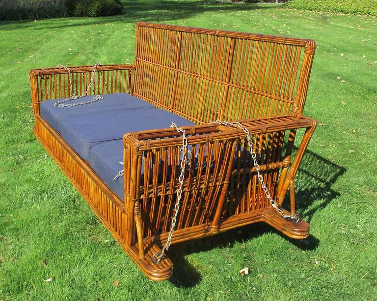 Stick Wicker Porch Swing At 1stdibs