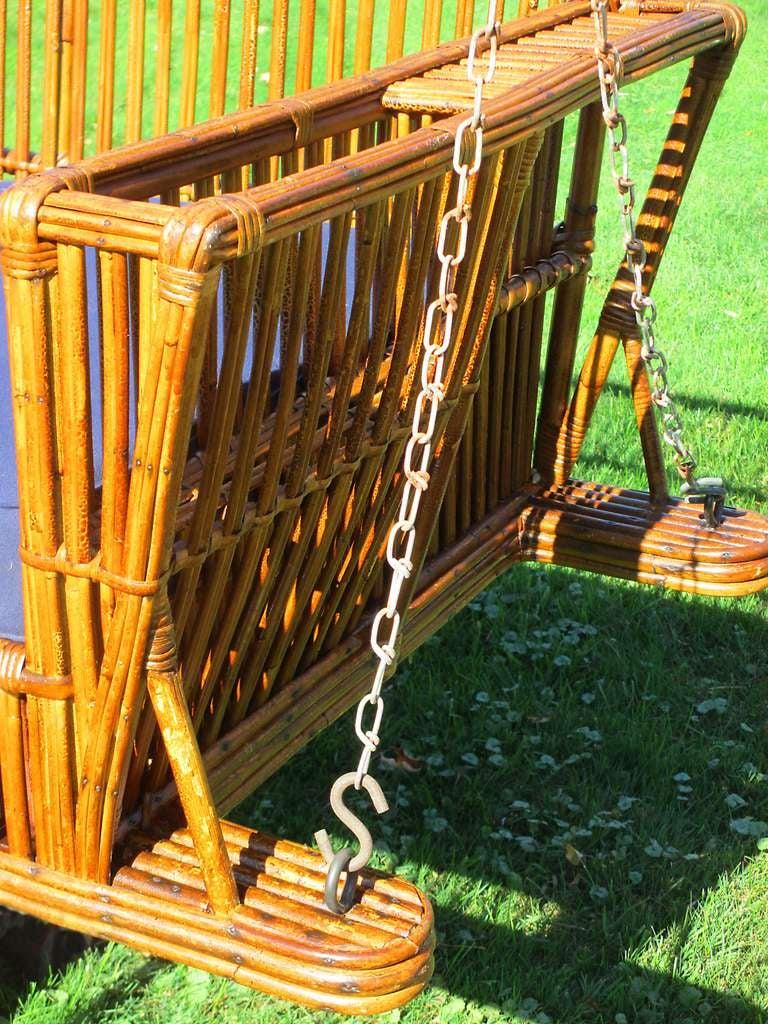 Stick Wicker Porch Swing At 1stdibs