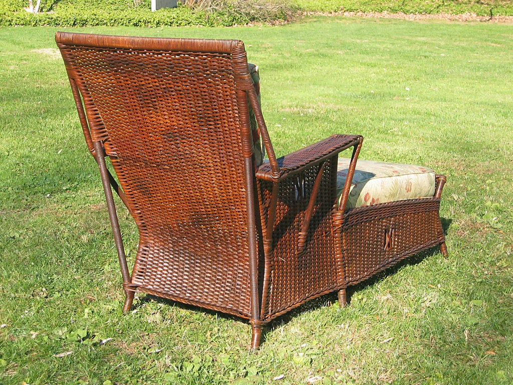Art deco wicker chaise lounge at 1stdibs for Art nouveau chaise lounge