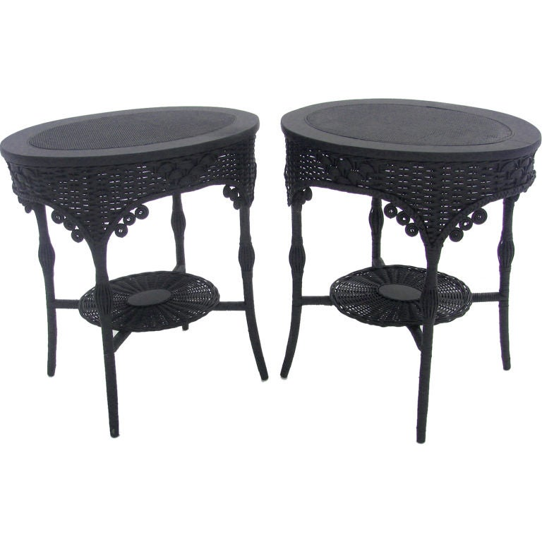 Victorian Ash Coffee Table: MATCHING PAIR VICTORIAN WICKER END TABLES At 1stdibs