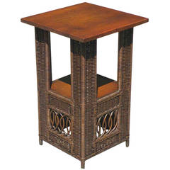 Mission Wicker Table