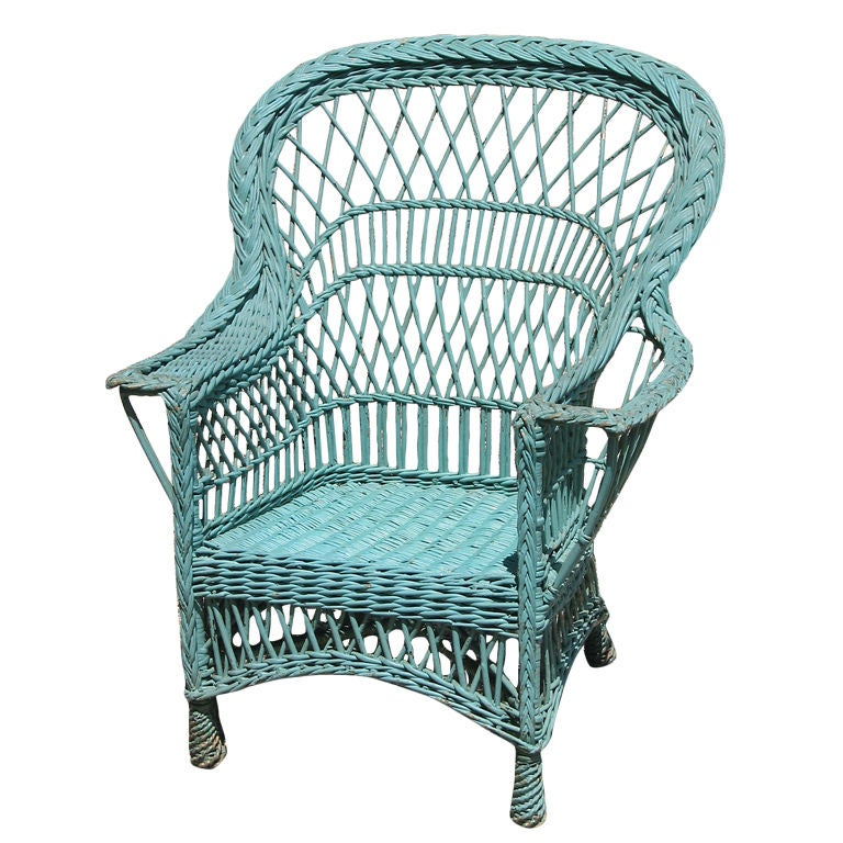 Bar Harbor Wicker Armchair At 1stdibs