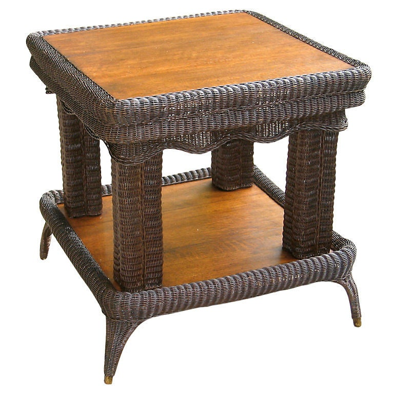 Victorian Ash Coffee Table: Victorian Wicker Center Table At 1stdibs