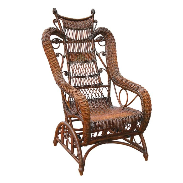 Victorian Wicker Platform Rocker At 1stdibs