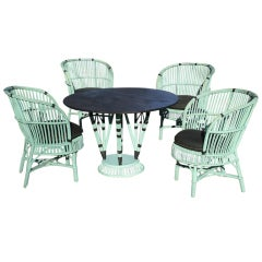 Five-Piece Stick Wicker Dining Set