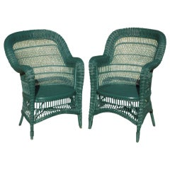 Pair Victorian Serpentine Rolled Arm Chairs