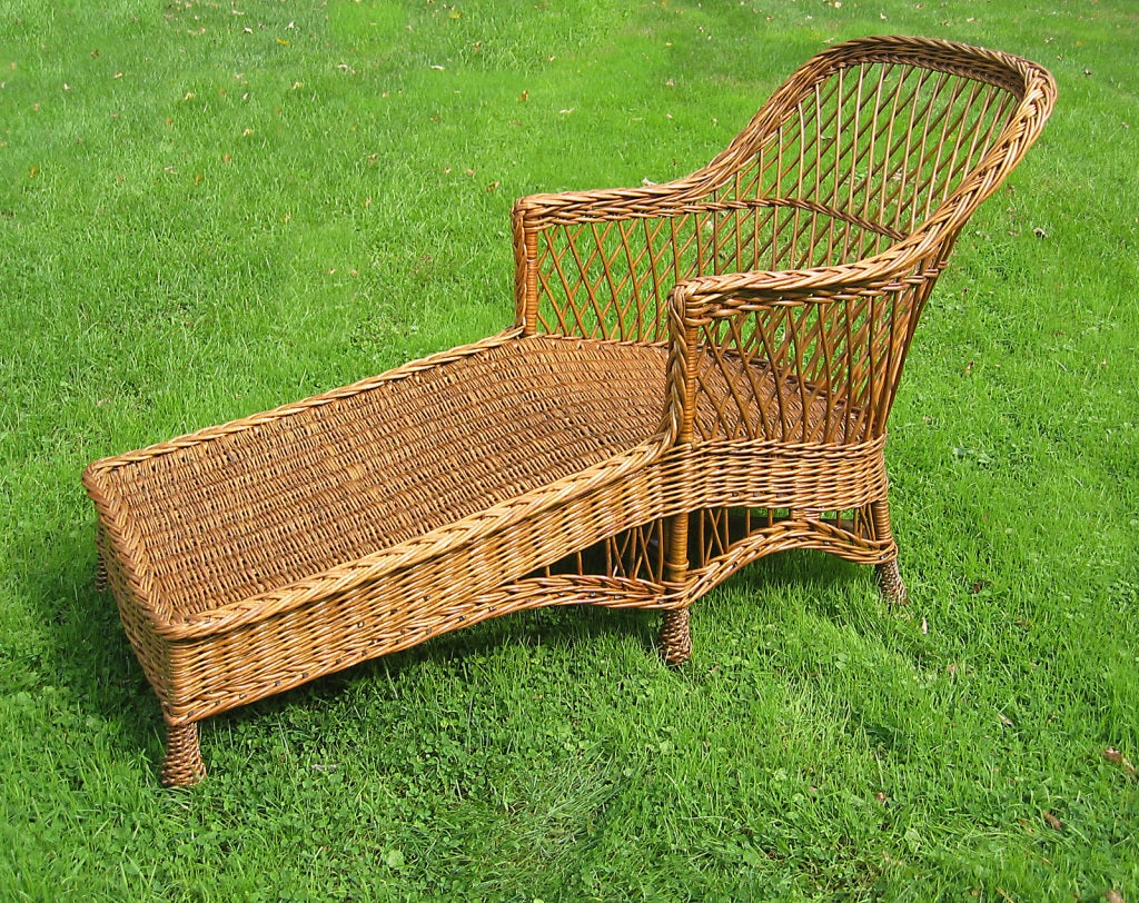 Bar harbor wicker chaise longue image 3 for Cane chaise longue