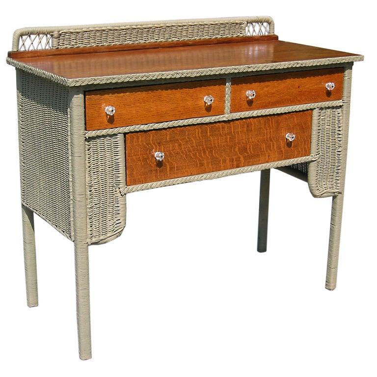 art deco wicker sideboard at 1stdibs. Black Bedroom Furniture Sets. Home Design Ideas