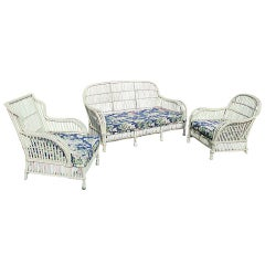 Three-piece Stick Wicker Set