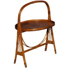 Rattan Tilt-top Butler's Table