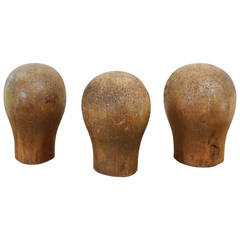 French Wooden Hat Block Molds