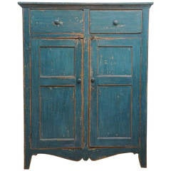 Painted Two-Drawer, Two-Door Armoire