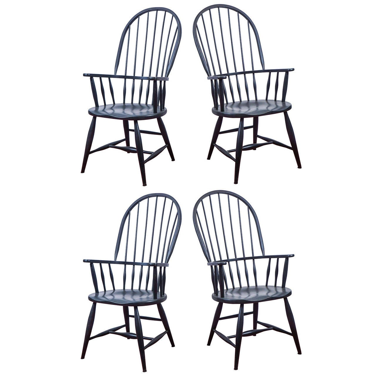 Set of four Windsor armchairs, early 20th century
