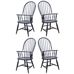 Four American Windsor Armchairs
