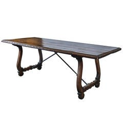 Spanish Baroque Trestle Dining Table