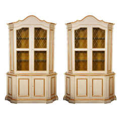 Pair of Venetian Style Cabinets by Baker