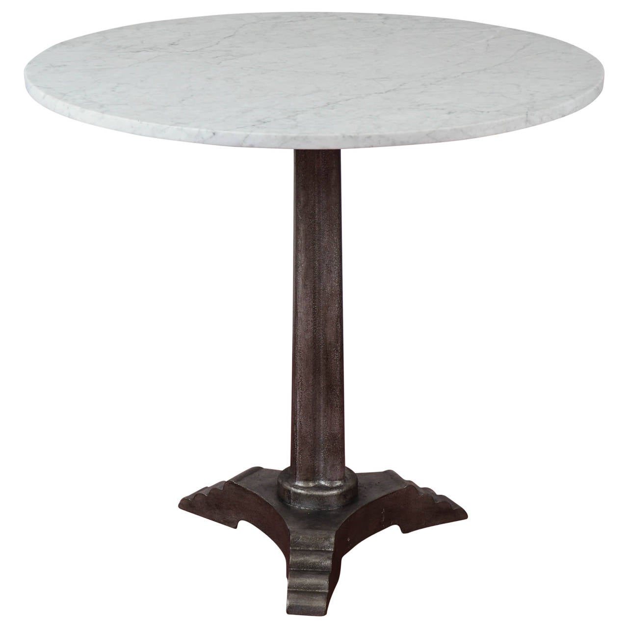 Marble Bistro Accent Table: French Art Deco Marble Top Bistro Cafe Table At 1stdibs