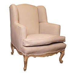 Louis XV Style Wing Armchair