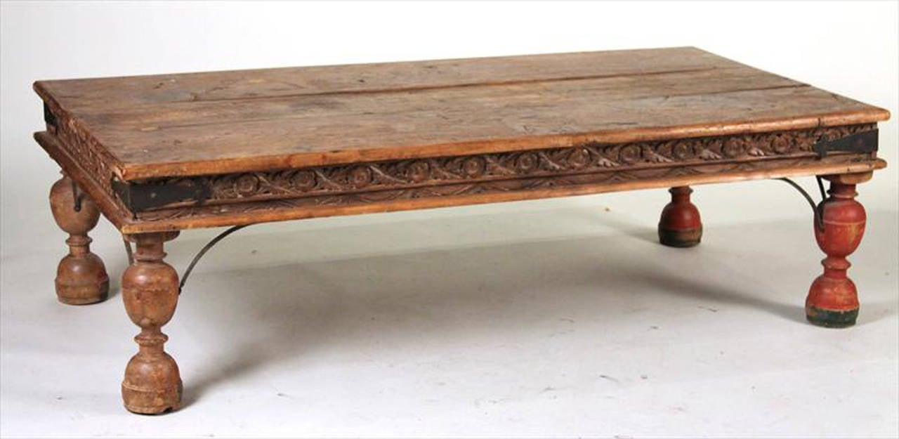 Rustic Large Asian Style Coffee Table At 1stdibs