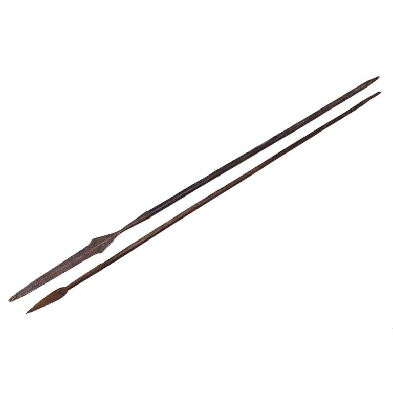 Pair of African Tribal Spears