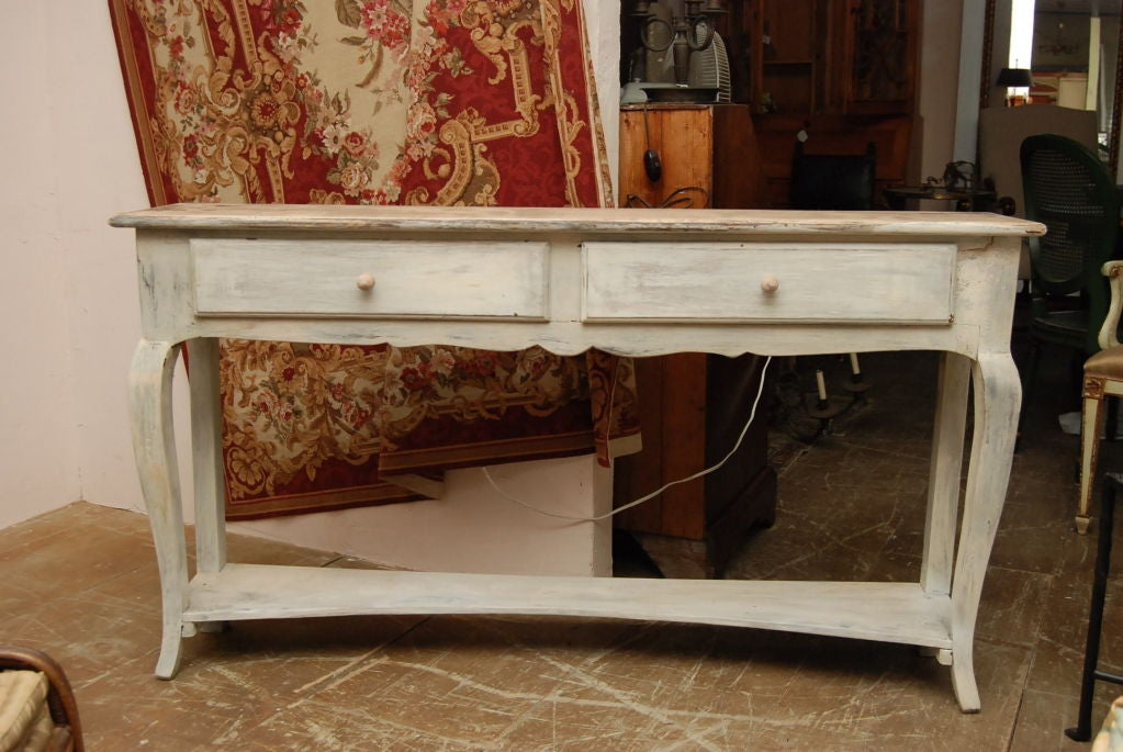 French Provincial Style Oak Painted Sideboard At 1stdibs