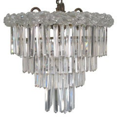 Cut and Pressed Glass 4-Tiered Chandelier