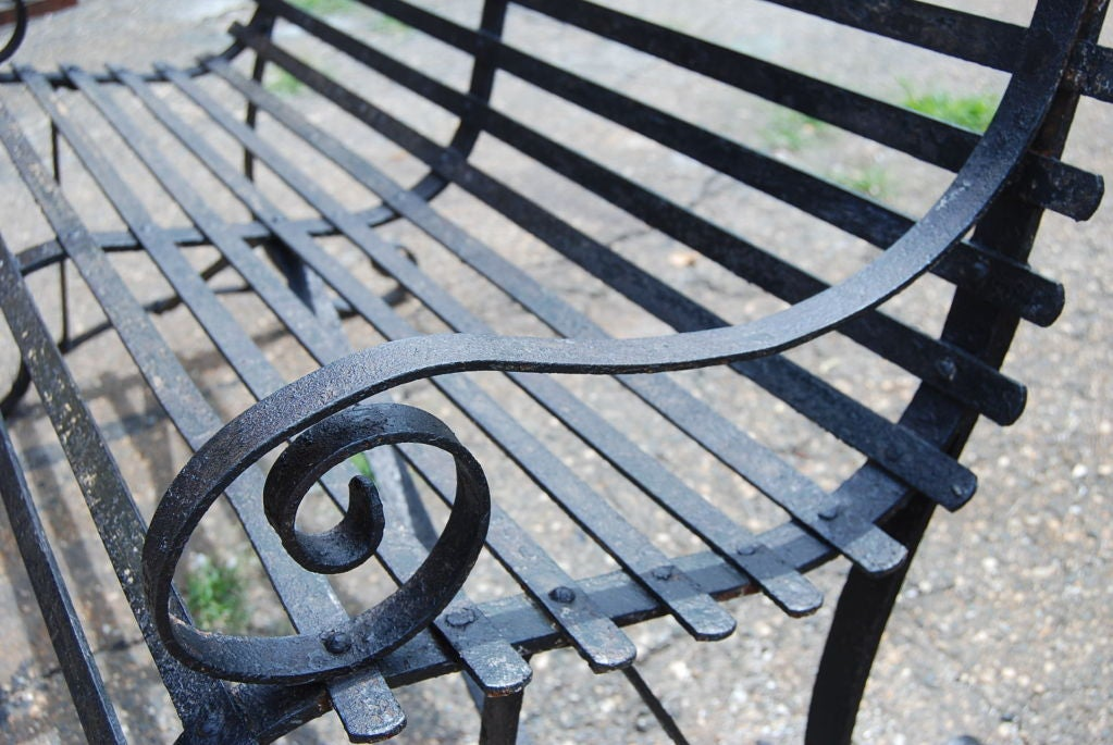 this vintage metal garden bench is no longer available