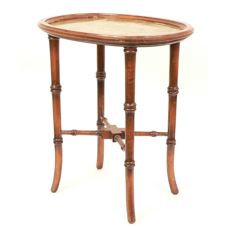 Faux Bamboo End Table At 1stdibs