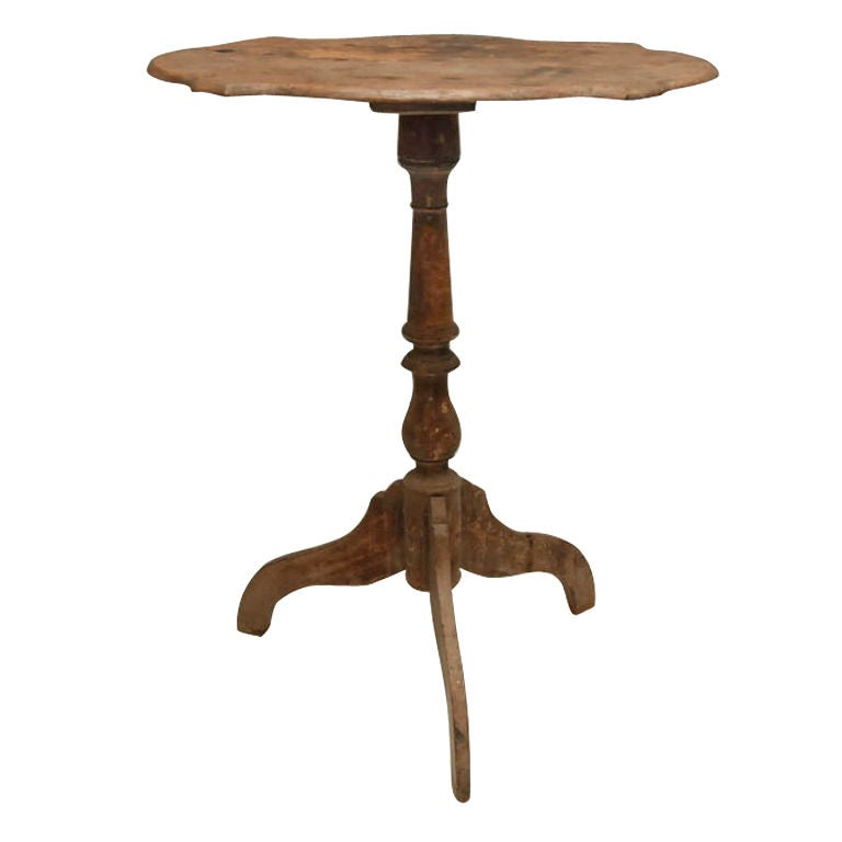 Teak Pedestal Side Table At 1stdibs