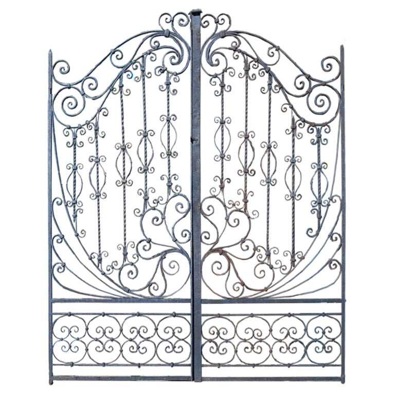Th c hand forged iron gates at stdibs