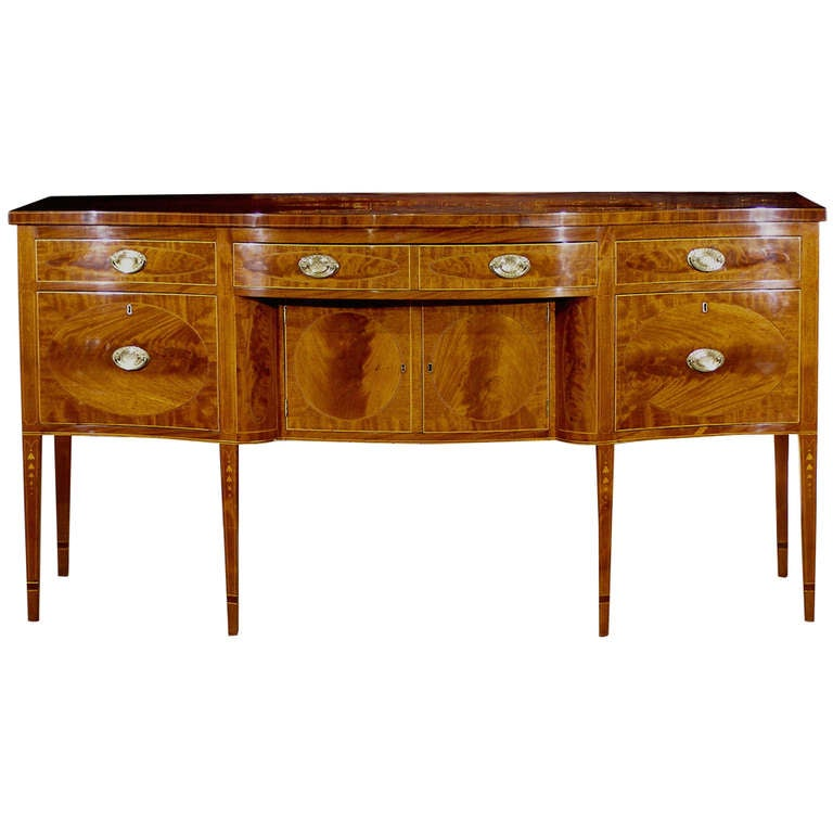 American Federal Period 18th Century Inlaid Mahogany