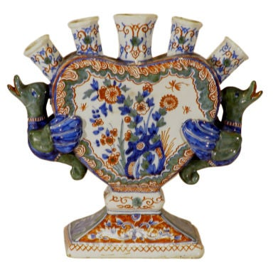 Dutch Delft Tulip Vase At 1stdibs