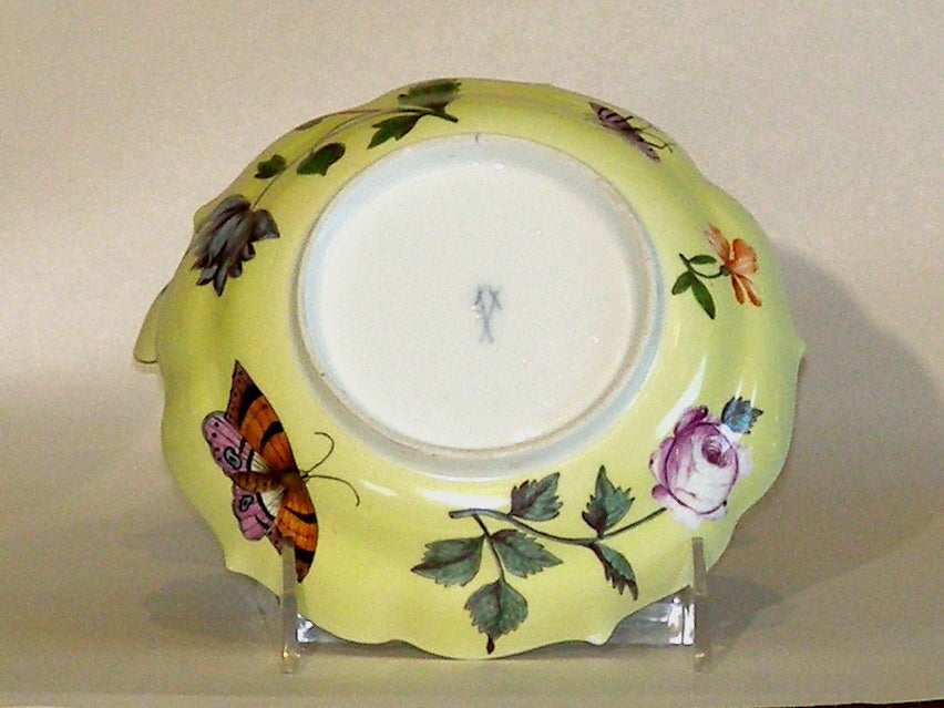 Assembled Pair Of 18th Century Meissen Cups And Saucers At