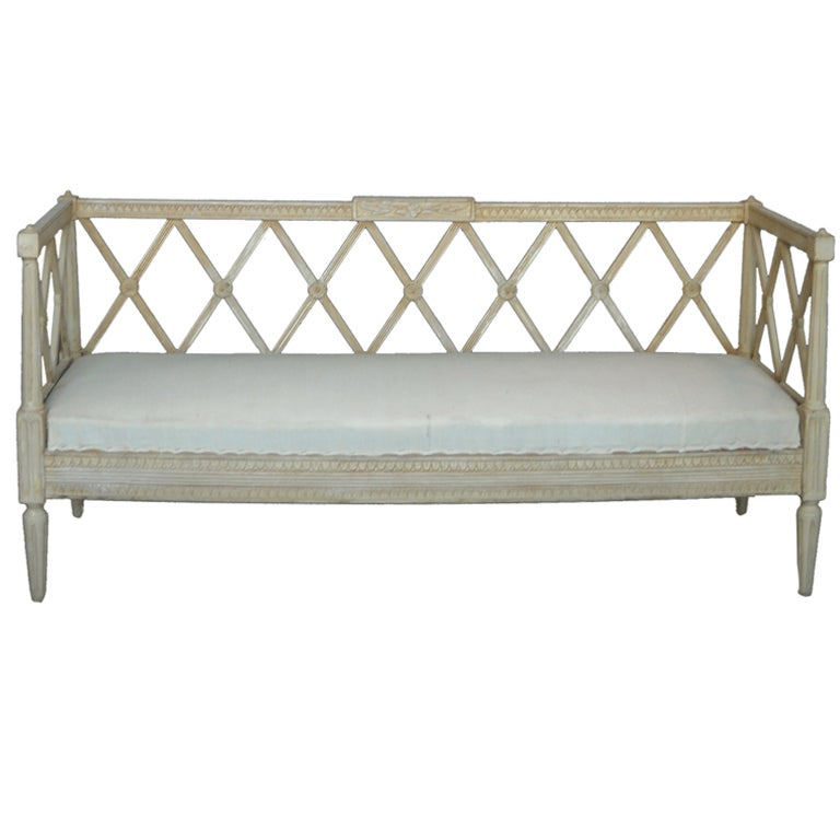 Late gustavian sofa bench at 1stdibs Bench sofa