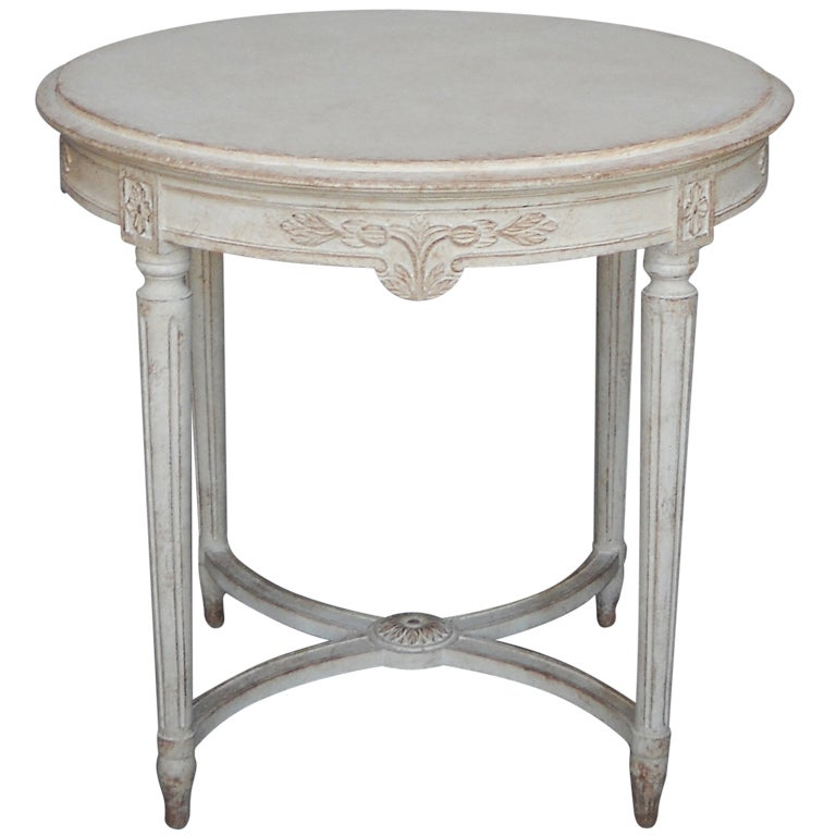 Gustavian style round table at 1stdibs for Oka gustavian side table