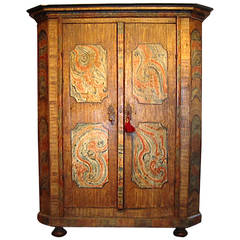 Marbleized Armoire from the Bavarian Forest