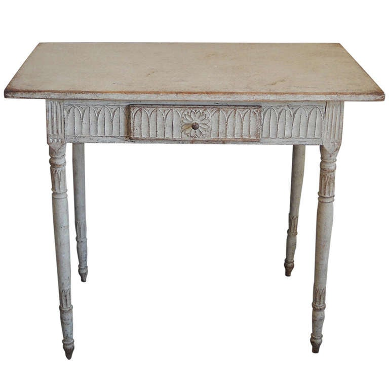 Late gustavian side table at 1stdibs for Oka gustavian side table